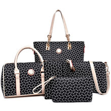 MIWIND 2019 New Women Handbags Buy One Get Five High Quality PU Leather Fashion Sweet Ladies Shoulder Bags Seven Colors Set Bag(China)