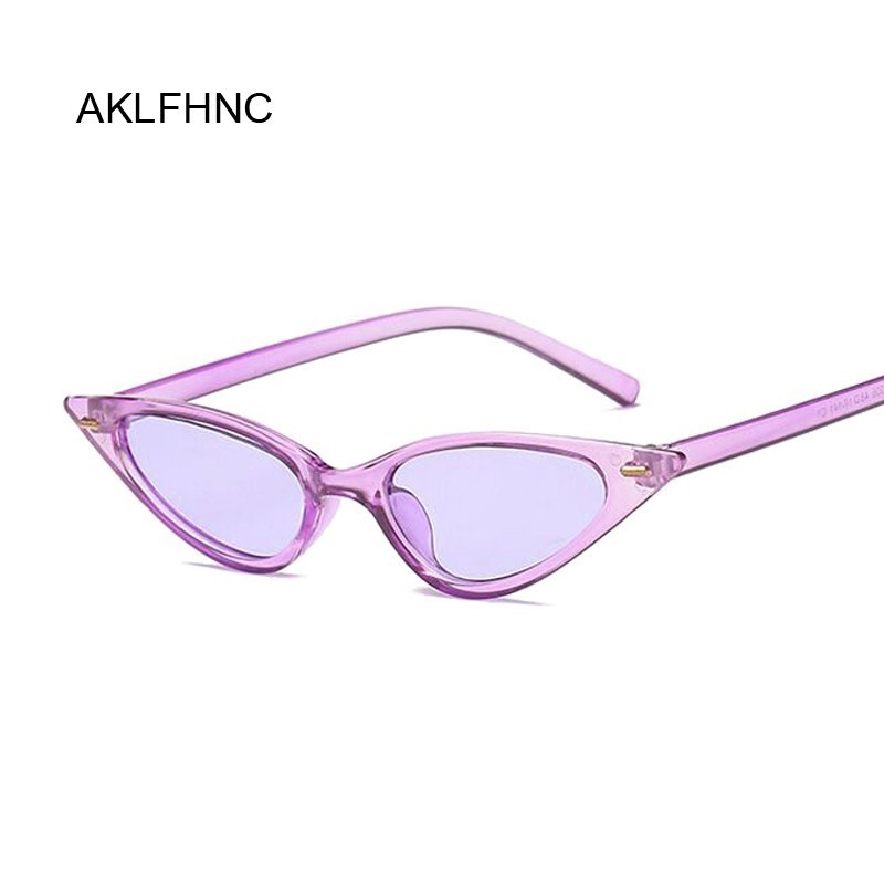 Women Cat Eye Sunglasses Small Size Brand Designer Fashion Retro Ladies Sun Glasses Female Black Purple Red Glasses UV400
