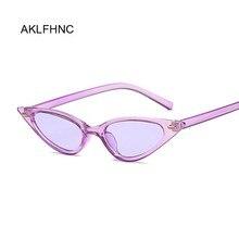 Gafas de sol de ojo de gato para mujer, gafas de sol Retro de diseño de marca de tamaño pequeño, gafas de sol para mujer negras, púrpuras y rojas UV400