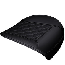 1Pair Universal Front Seat Cover Square Lattice Black PU Material Vehicles Interior Accessories Auto Cushions