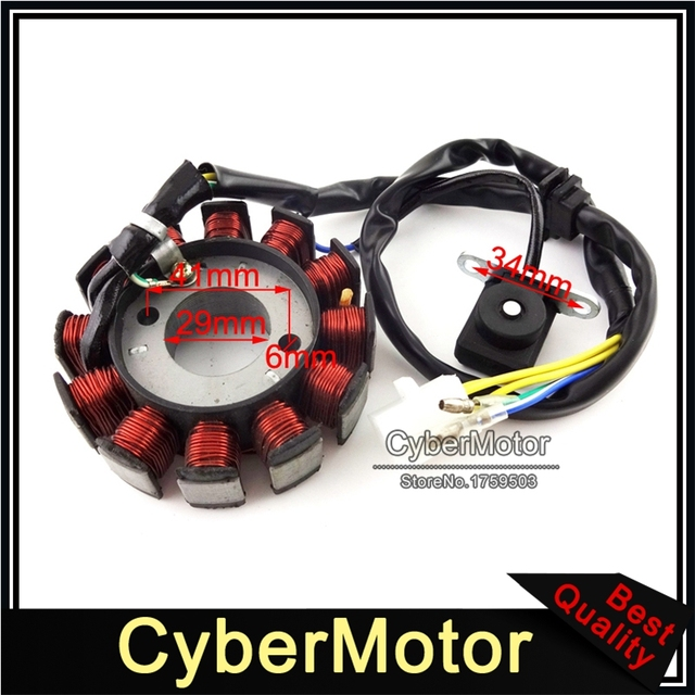 US $19 99 5% OFF|12 Coils Ignition Stator Magneto For GY6 125cc 150cc  Engine Chinese Moped Scooter ATV Quad Go Kart-in Motorbike Ingition from