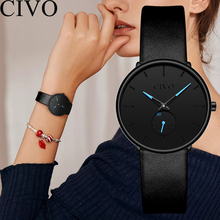 CIVO New Fashion 2019 Reloj Mujer Women Watches Waterproof Steel Mesh Strap Beauty Decoration Relogio Feminino Zegarek Damski