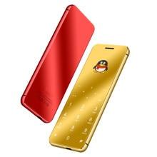 Ulcool V99 V66A роскошный супер мини кредитный телефон ультратонкий мобильный телефон металлический корпус Bluetooth Dialer две sim-карты мобильный