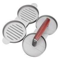 Красная ручка Двойная сетка мясо для гамбургеров форма для пирогов Пресс