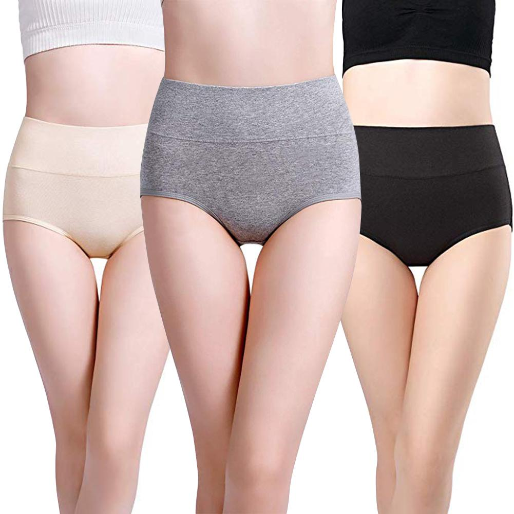 Women's Cotton Underwear For Women Solid Color Panties High Waist Comfortable Size Women's Panties Hot Sale 2019