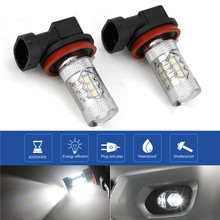 Hiyork 1PCS Car H8 H11 Led 9005 HB3 9006 HB4 3030 Fog Lamp Daytime Running Light Bulb Turning Parking 12V Bulbs Auto 120LM 6000K 1 piece car h8 h11 led 9005 hb3 9006 hb4 h4 h7 p13w h16 5630 33smd 12v fog lamp running light bulb turning parking bulb