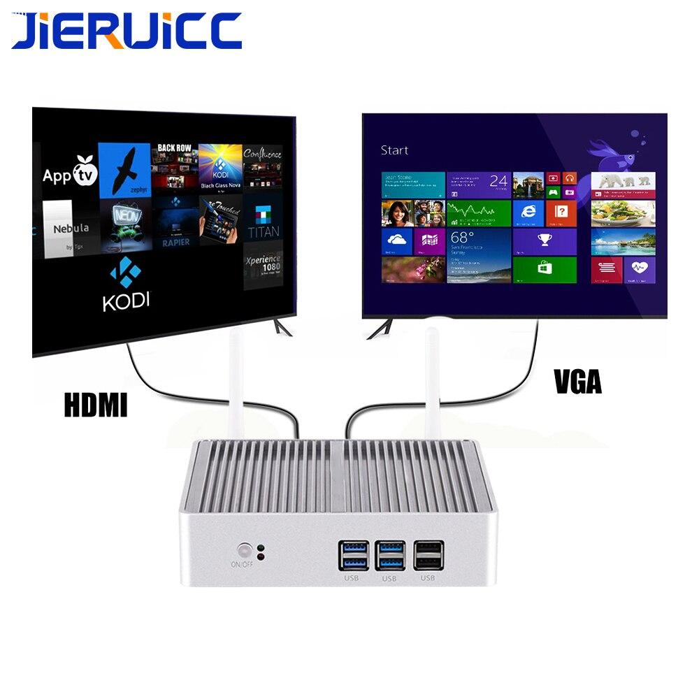 Poste d'ordinateur windows mini pc i3 7100U i5 7200U DDR3L mini pc Linux Windows 10 Pro Graphiques HD 620 4 K HTPC HDMI VGA Ordinateur