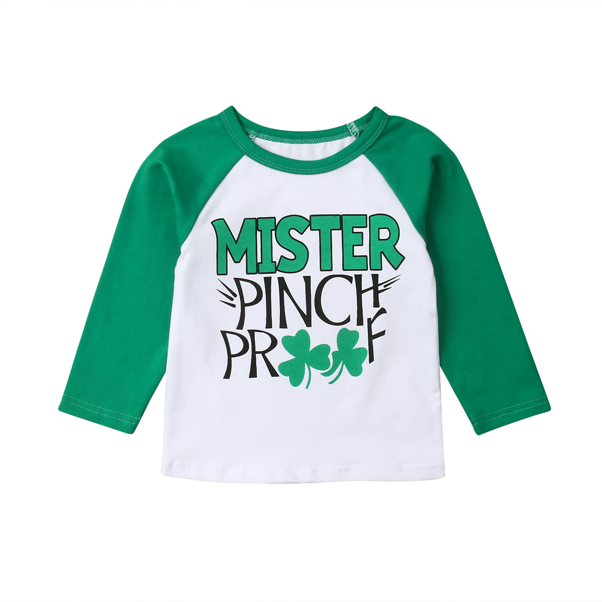 UK St Patrick/'s Day Procession Baby Boy Girl Vest Top Clover Pants Green Clothes
