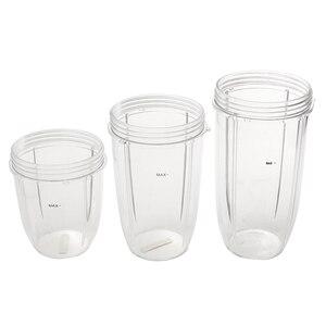 Image 4 - 3 шт. Сменные чашки 32 унции, цветные + 24 унции, высокий + 18 унций, маленькая чашка + 3 крышки для соковыжималки для фруктов, запчасти для кухонного прибора B