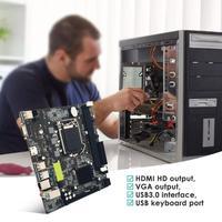 High Speed H81 BTC Motherboard 6 GPU Mining LGA1150 CPU DDR3 Memory USB 3.0 Computer PC Mainboard Support HDMI VGA Output