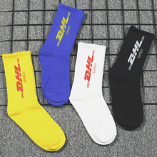 1Pair Letter HipHop Sport Novelty Soft Black Blue Yellow Whi