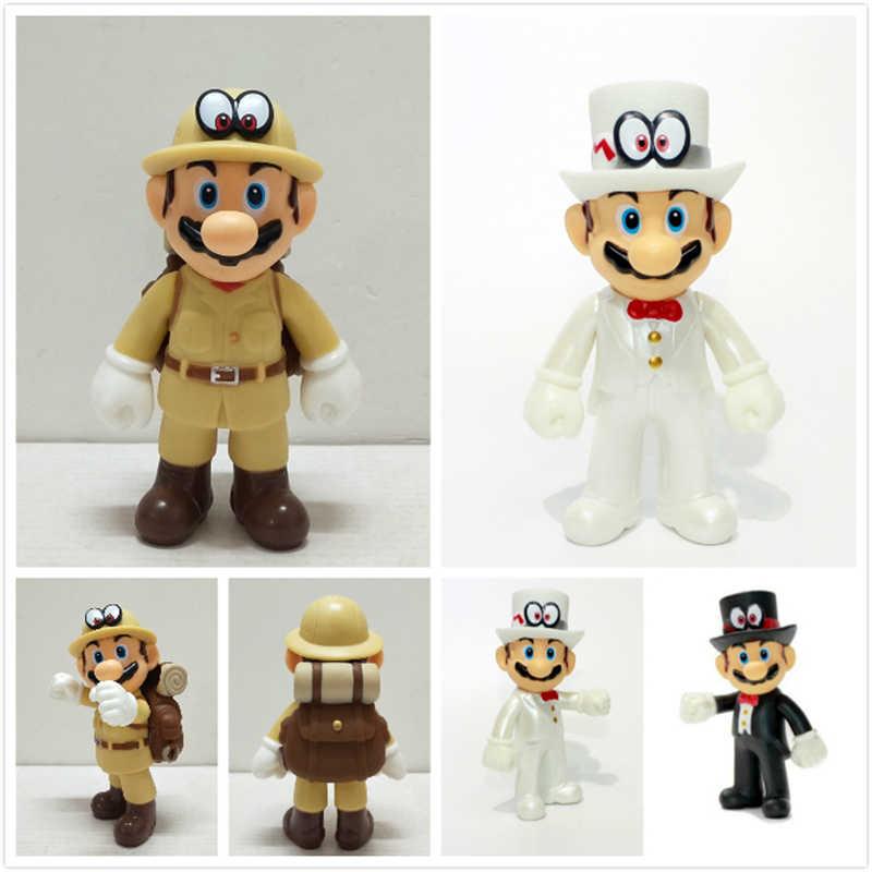 Dziecko biały Mario formalna sukienka Kaitou dzieciaku z oczu kapelusz dziecko Phantom złodziej Explorer Mario Luigi figurki chłopcy dziewczyna prezent