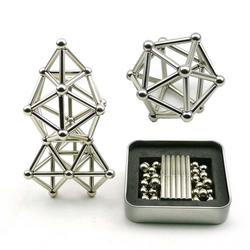 Innovative Buckyballs 36PCS Magnetic Sticks & 27PCS Steel Balls Toy Building Blocks Puzzle Toy Set For Pressure Relief