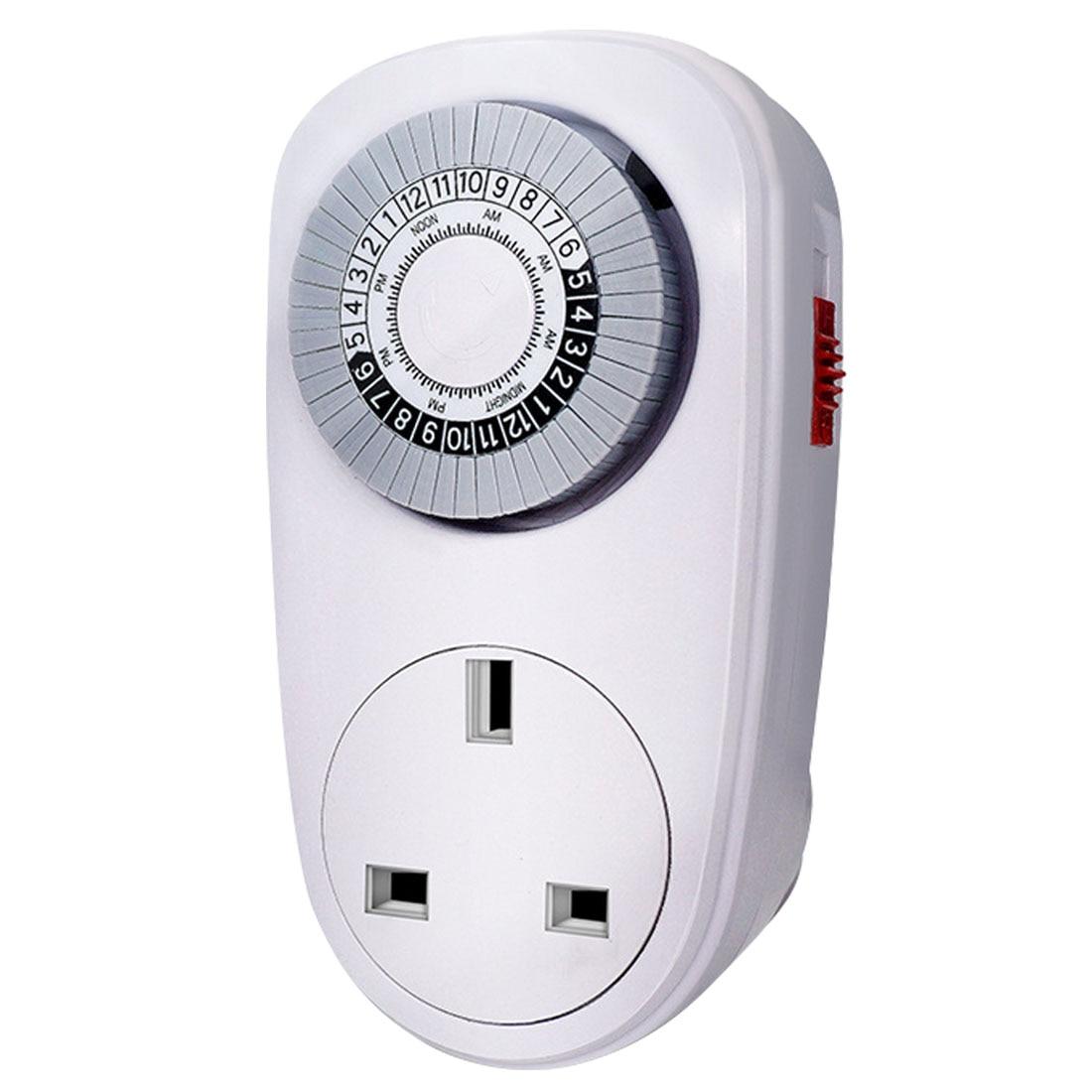 100% Wahr 24 Stunden Programmierbare Mechanische Mini Timer Schalter Smart Countdown Schalter Buchse 125 V 15a Weiß