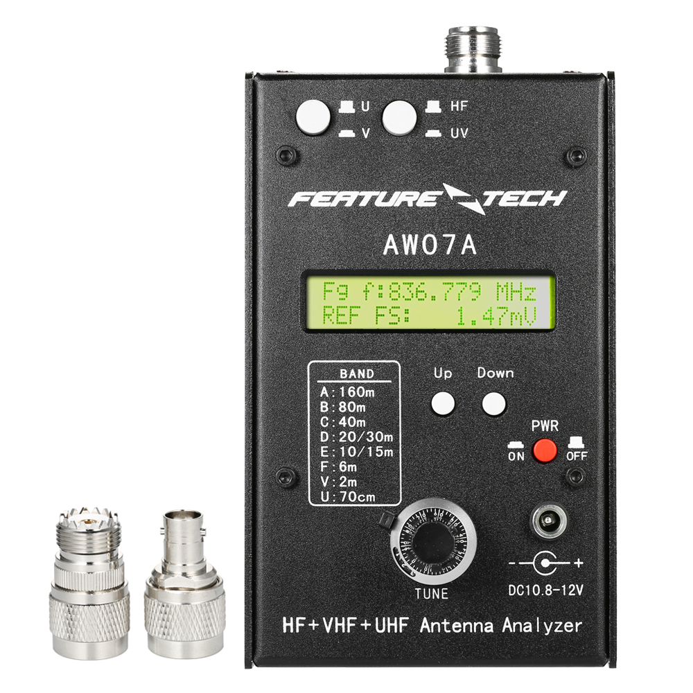 AW07A HF VHF UHF 160M Impedance SWR Antenna Analyzer Meter for Ham Radio Hobbyists DIY