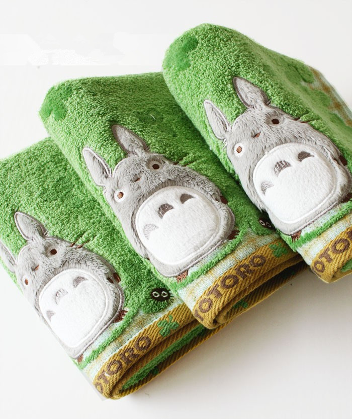 New Quality Baby Cotton Cartoon Totoro Face Towel Baby Towel Wash Cloth Handkerchiefs Infant Baby Feeding Saliva Towel