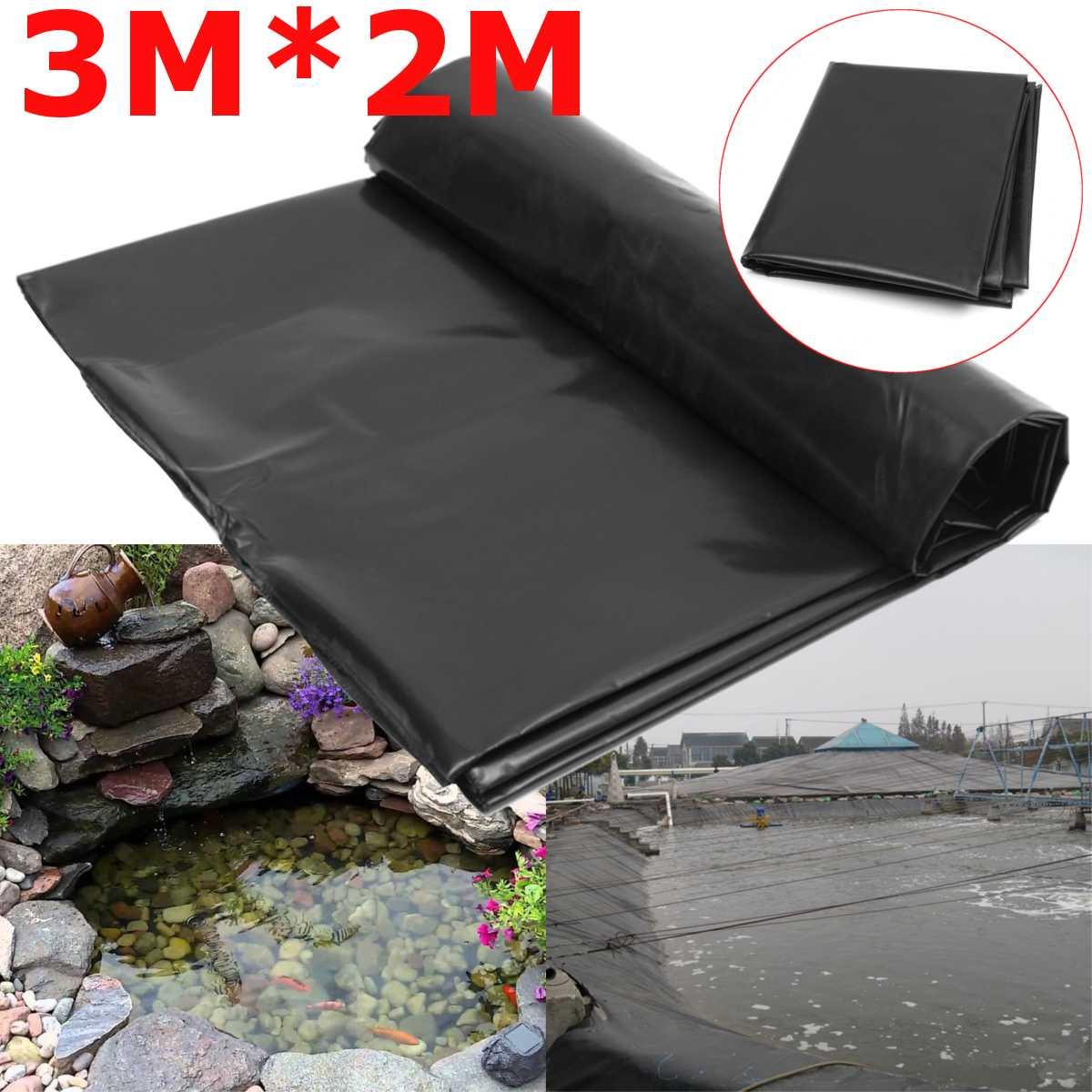 3X2M черный Средний аквариум для рыбок материал для подкладки домашний плавательный бассейн усиленный HDPE тяжелый ландшафтный дизайн бассейн...
