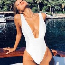 Сексуальный цельный купальник, Женский однотонный купальник, женская пляжная одежда с высокой талией, купальный костюм, летний купальный костюм, монокини, пляжная одежда