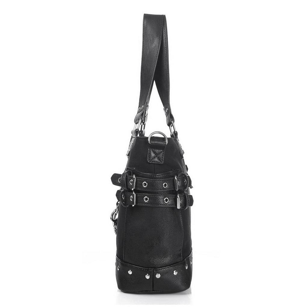 Image 3 - Rock Style Rivet Handbag Fashion Women Punk Casual Tote Zipper  Chain Female Motorcycle Shoulder Crossbody BagShoulder Bags   -