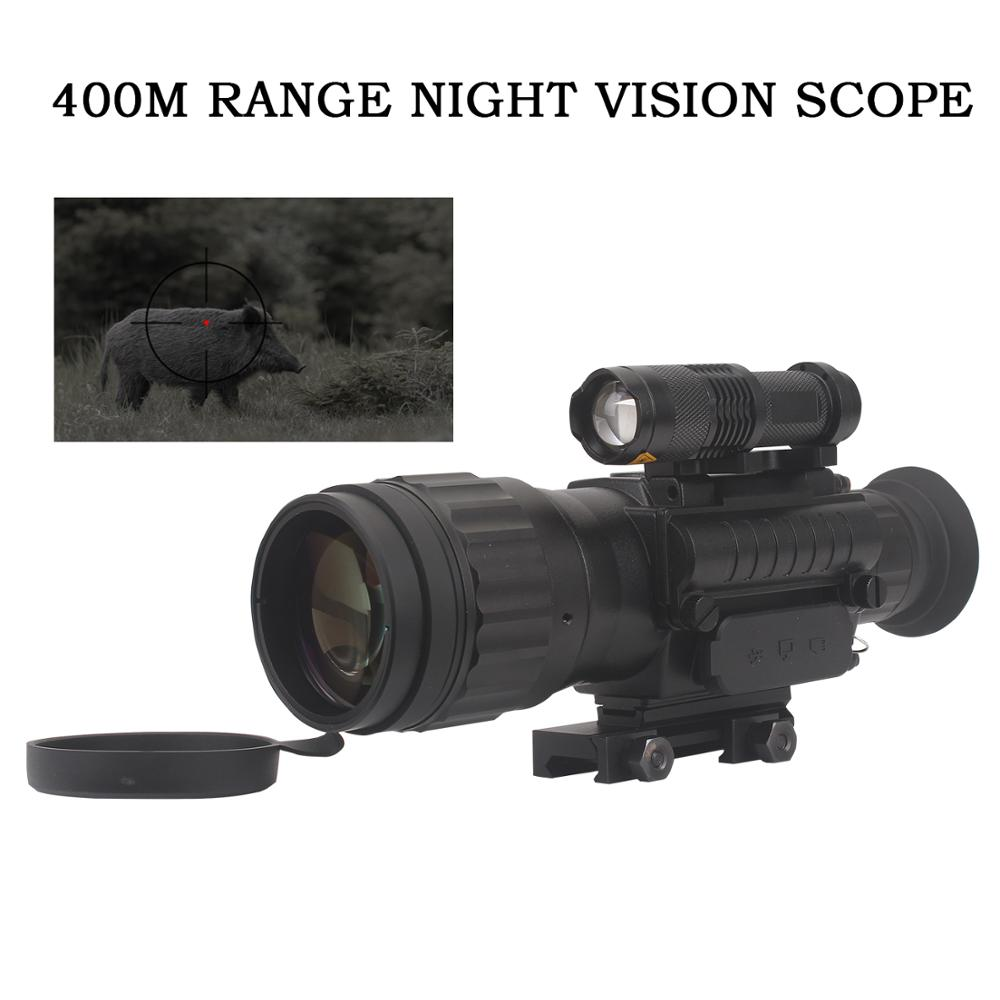 WILDGAMEPLUS 400M Range IR Night Vision Scope Optics 5w IR LED Infared Night Vision Riflescope Telescope