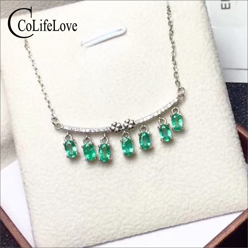 Elegant emerald necklace for evening party 15 pcs natural emerald silver necklace 925 silver emerald jewelry gift for woman fashion silver wing pendant with emerald 17 pcs natural emerald pendant for party solid 925 silver emerald jewelry for woman