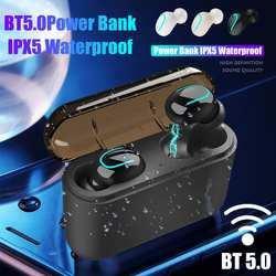 Bluetooth-гарнитура 5,0 TWS u-типа наушники с мобильным питанием в ухо Спортивная зарядка склад спортивные наушники