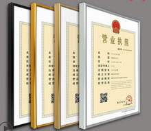 Aluminium Alloy Metal Certificate Holders Prints For Certificate ,diploma And Picture Mpf002(China)