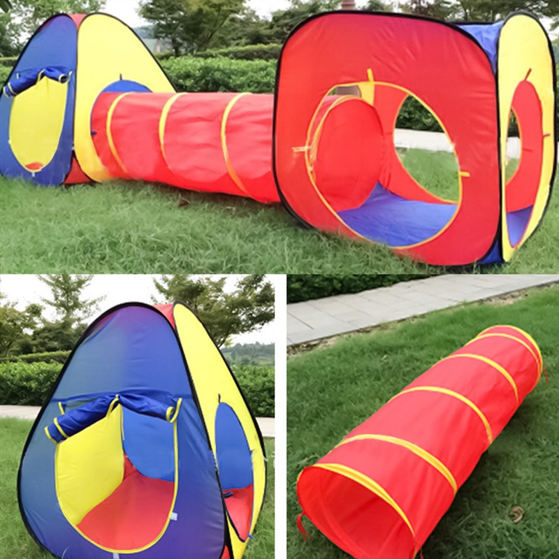 3 pièces enfants jouets tente bébé gonflable balle piscine jouer tente et Tunnel balle fosse Playhouse Pop Up Playtent