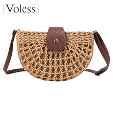 Hot Sale Bags for Women 2019 Handbags Summer Rattan Handmade Woven Beach Circle Handbag New Fashion Bolsa Feminina