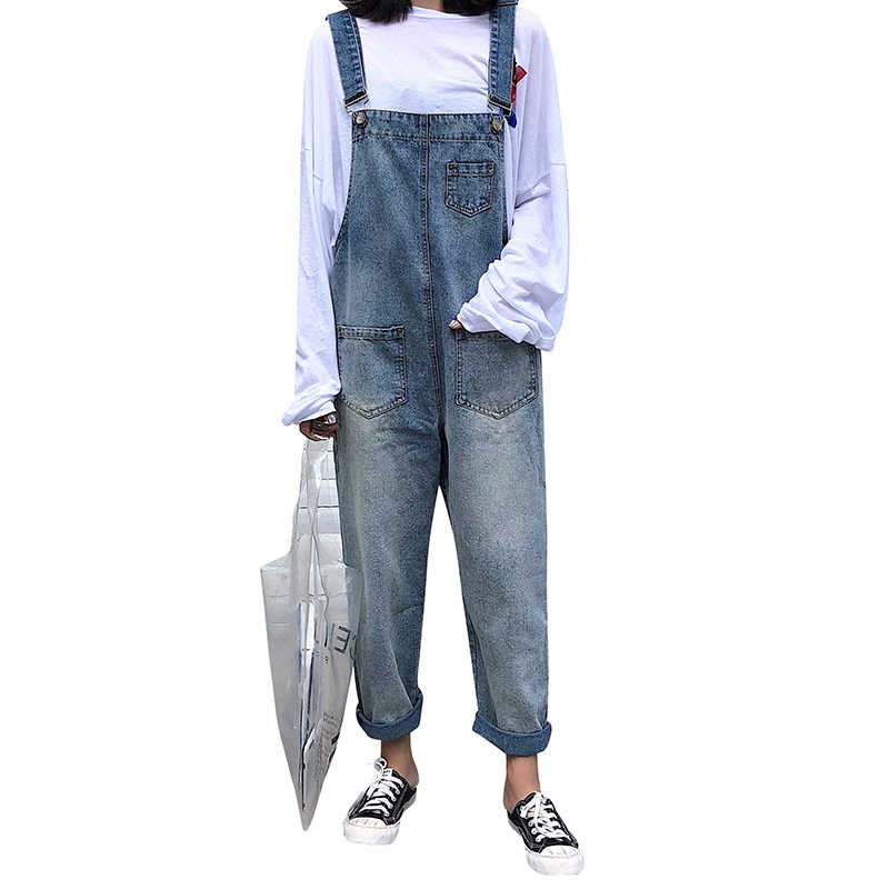 Pengpious модные новые джинсовые штаны комбинезон с карманами винтажные джинсы для девочек Комбинезон