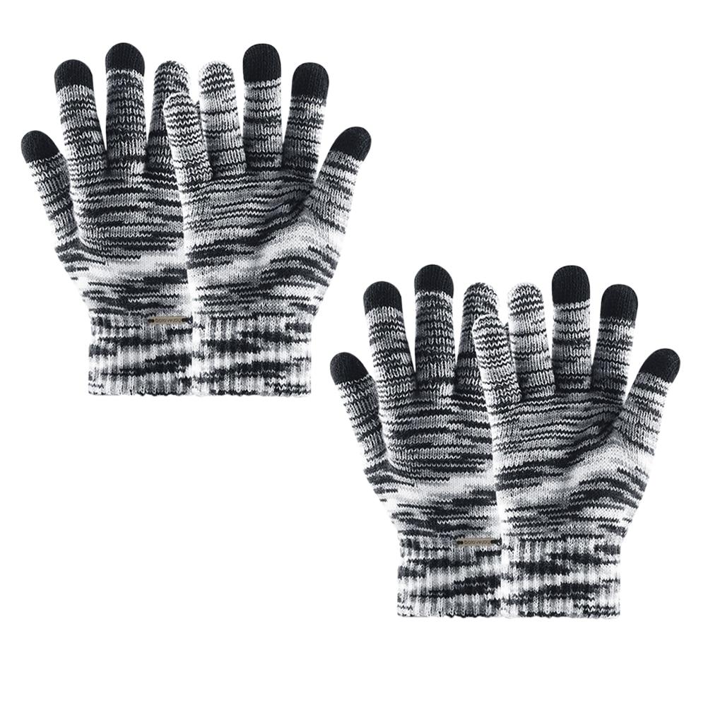 1 Para Koreanische Version Gestrickte Winddicht Fashion Warm Touch Screen Handschuhe Volle Finger Handschuhe Winter Handschuhe Modische Und Attraktive Pakete