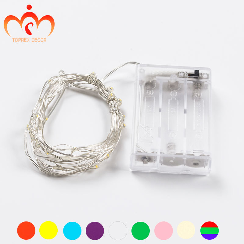 3m / 9,8 ft 30 LED Bateritë 3AA të operuara LED dritë bakri tel - Ndriçimi i pushimeve - Foto 2