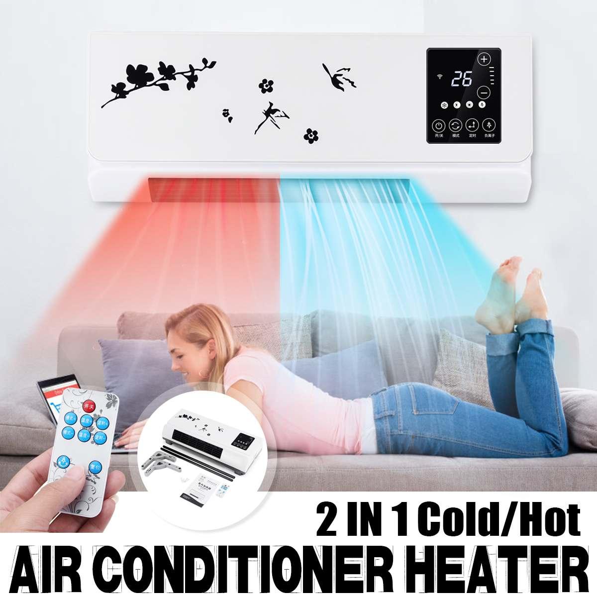 220 V 2000 W mural télécommande chauffage maison économie d'énergie chauffage ventilateur salle de bains climatisation Air chaud chauffage