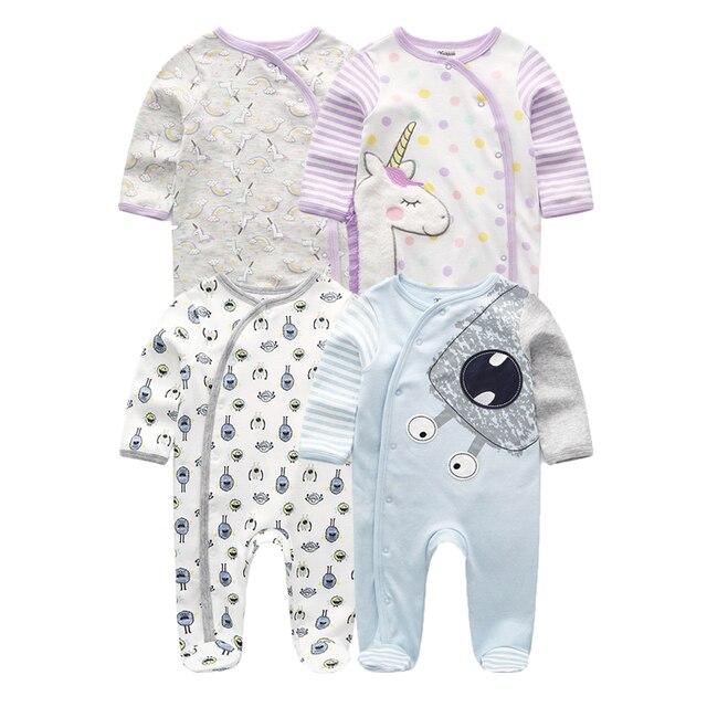 2019 2 יח\חבילה Unicorn בני בגדי שטן קטן בגד גוף תינוקת בגדי יילוד Roupa דה bebe תינוק ילד בגדי כותנה