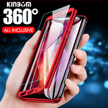 KINBOM 360 Full Protection Case For xiaomi redmi note 7 4 4X 5 6pro Redmi 6 5a plus Phone Cover With Glass