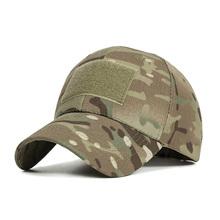 New Camo Baseball Cap Men Summer Mesh Cap Tactical Camouflage Velcr Snapback Cap Hat for Men