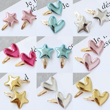 2PC Cute Crown Hair Clip Girl Fashion  Candy Color Shiny Bright BB Clip Star Hair Accessories Girl Boutique Gift недорго, оригинальная цена