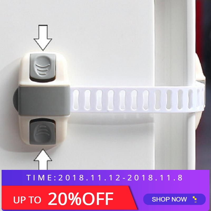 1Pcs Baby Safety Child Lock Kids Security Protection Refrigerator Door Cupboard Box Fridge Prevent Open Drawer Cabinets high quality hot sale safely security abs splines infant child safety lock drawer refrigerator lock windows white free shipping