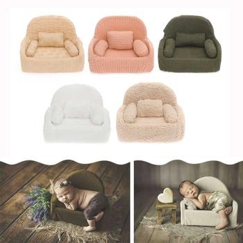Fotografowania noworodków rekwizyty pozowanie Mini Sofa dekoracja krzesła Fotografia akcesoria Infantil Studio strzelanie rekwizyty tanie i dobre opinie Other Stałe Chair 0-3 M