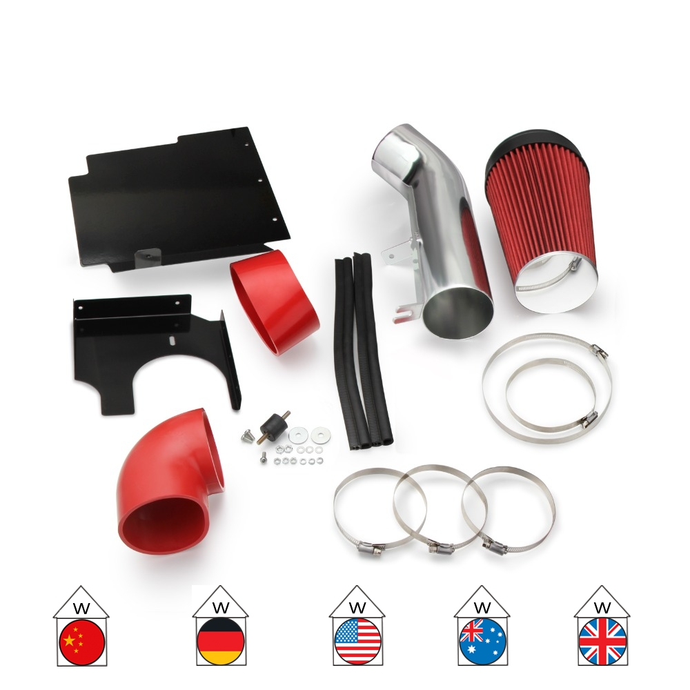 RED Heat Shield Air Intake System Kit For 02 03 04 05 06 Avalanche Escalade V8