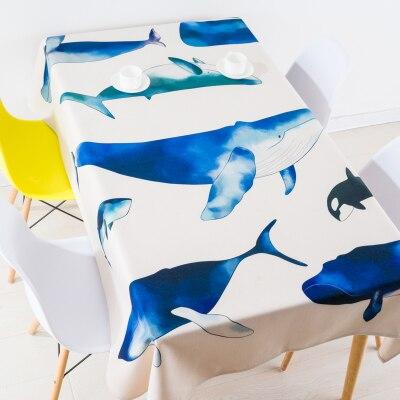Nappe méditerranéenne à fond de soufre nappes en lin couverture serviette épaisse rectangulaire antependium salle à manger décoration bleu