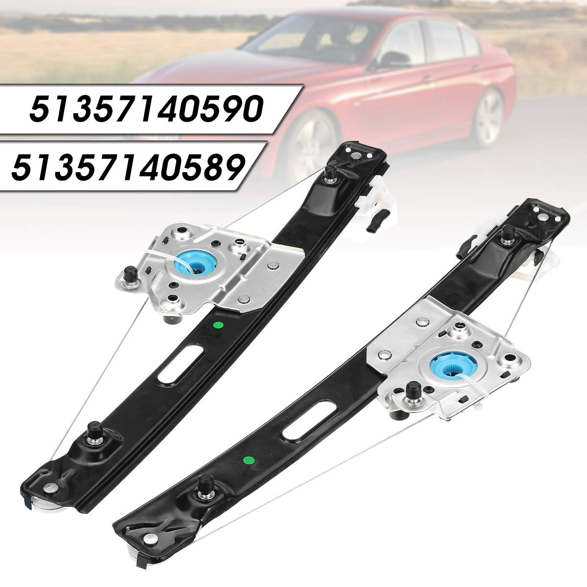 Rear Left / Right Power Window Regulator For BMW 3 Series E90 E91 323i 325i 325xi 328i XDrive 330xi Sedan 51357140589