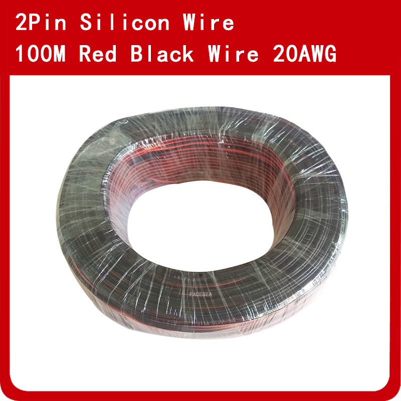100m 20AWG Twin Silicone Wire Red Black 100/0.08TS Ultra Flexiable Test Line Cable High Temperature