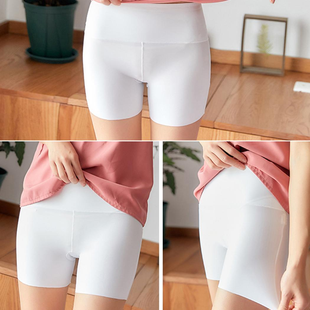 Women Casual Solid Seamless Elastic High Black, Nude, White All Seasons Waist Short   Leggings