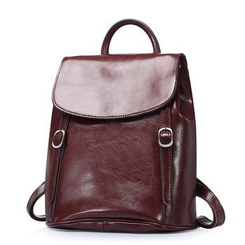 New Arrival Genuine Cow Leather Backpacks Women Fashion Style Rucksacks School Backpack for Girls Mochila Brand Designer Bags