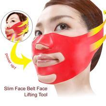 Силиконовая маленькая v-образная тонкая маска для красоты лица Инструменты для ухода за лицом складывается антивозрастная против морщин маска для подтягивания лица