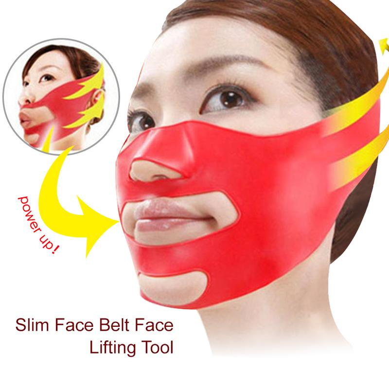 Silicone Small Face V Shaped Face Thin Face Mask Beauty Care Tools Folds Anti-aging Anti-wrinkle Face Mask Facial Lifting