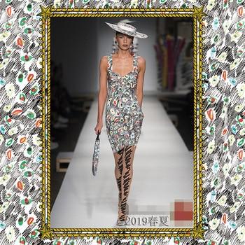 2019 new eye pattern printing apparel fabric dress shirt fashion material beautiful polyester printed cloth custom 145cm wide