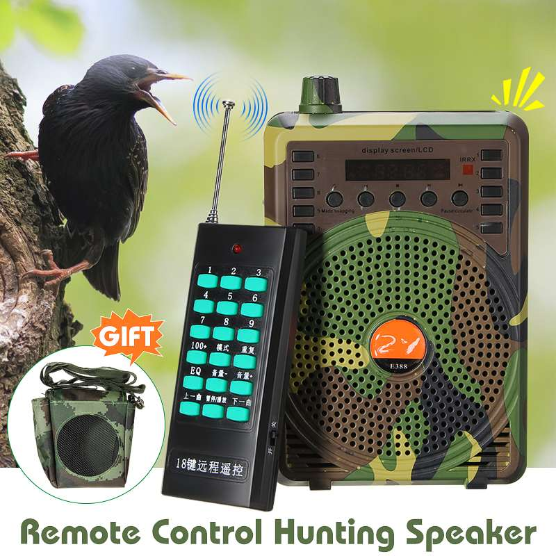 48W Hunting Speaker Bird Caller Predator Sound Caller MP3 Player w// Remote