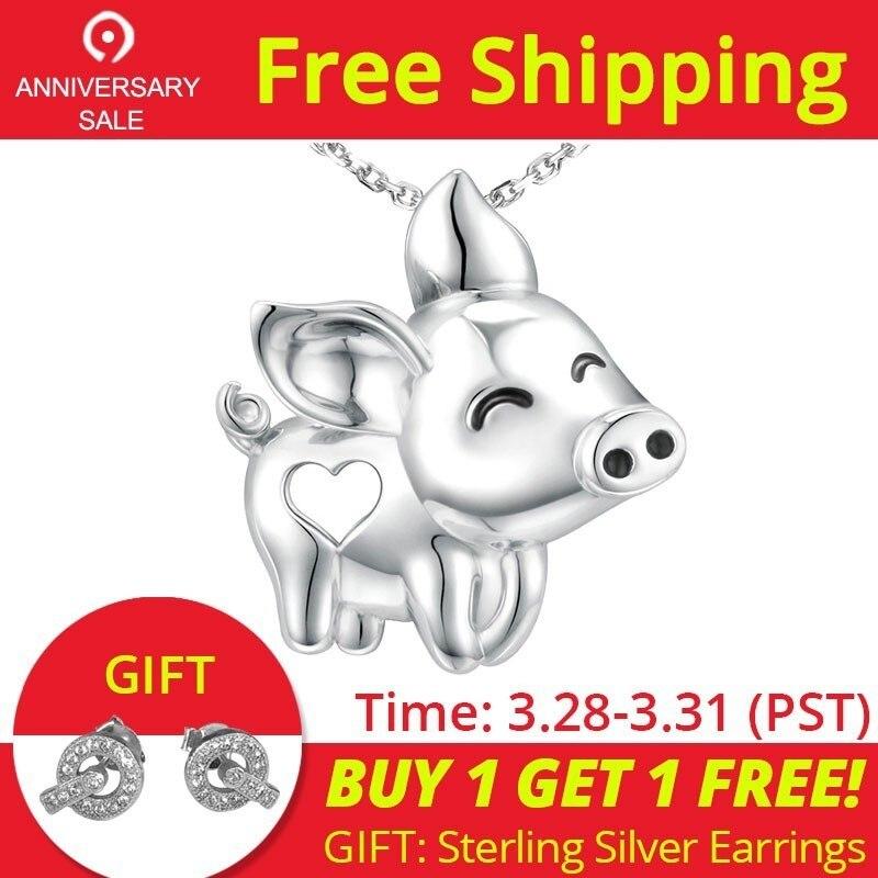 Strollgirl Einzigartige Charme wunderschöne Schwein fliegen Anhänger Halskette Neue Ankunft 925 Sterling Silber schmuck Tier für Frauen Mädchen geschenk